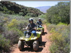 Quad biking in the Karoo - Western Cape - South Africa. Take a guided quad bike Karoo tour